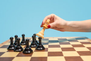 The chess board and game concept of business ideas and competition.